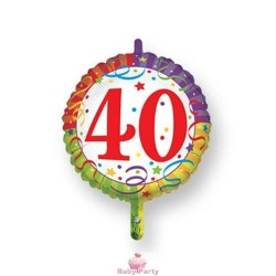 Palloncino Mylar 40 Compleanno Ø 45 cm Magic Party