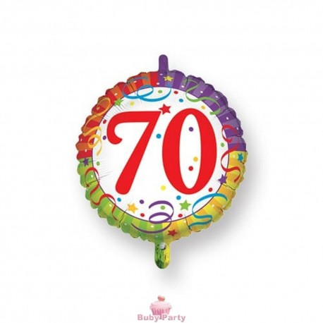 Palloncino Mylar 70 Compleanno Ø 45 cm Magic Party