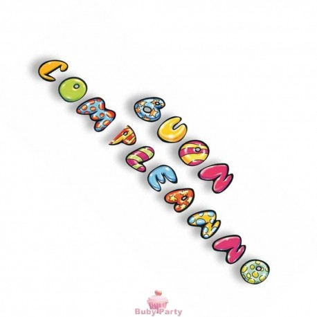 Festone Figurativo Buon Compleanno Murales 5,50 mt Magic Party