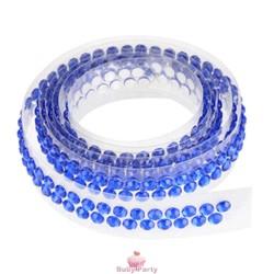 Nastrino Con Strass Adesivo Blu Per Torte Decorate 90 cm Modecor