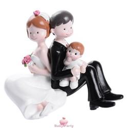 Topper Cake Matrimonio Sposi Con Bimbo Modecor