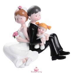 Topper Cake Matrimonio Sposi Con Bimba Modecor