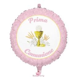 Palloncino Mylar Prima Comunione Rosa Ø 45 cm Big Party