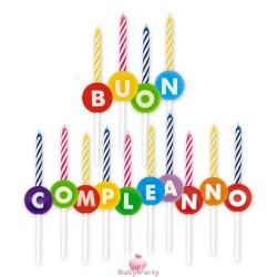 14 Basi Porta Candela 3D Buon Compleanno Big Party