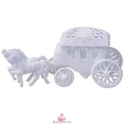Mini Carrozza Principessa Per Torta Con Cofanetto