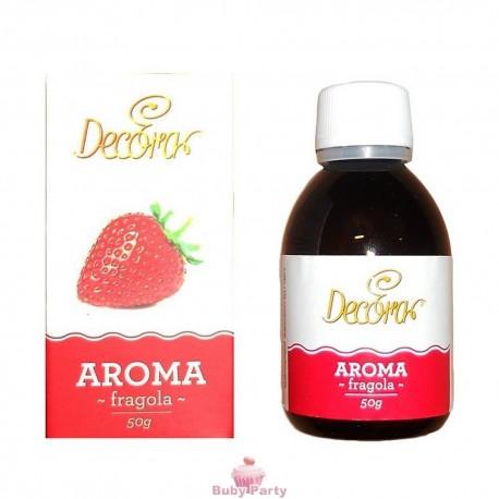 Aroma per dolci alla fragola 50 gr Decora