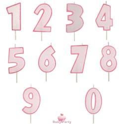 Candela Numero Glitter Rosa Per Torta Di Compleanno