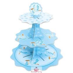 Alzatina Cake Stand Nascita Celeste Big Party