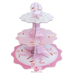 Alzatina Cake Stand Nascita Rosa Big Party