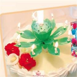 Candela Fiore Delle Magie Verde Per Torta Di Compleanno
