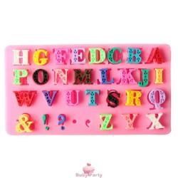 Stampo In Silicone Lettere Alfabeto