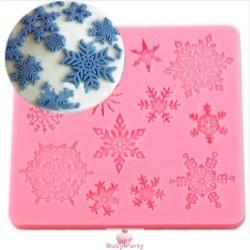 Stampo In Silicone Fiocchi Di Neve In Pizzo 13 Cavità