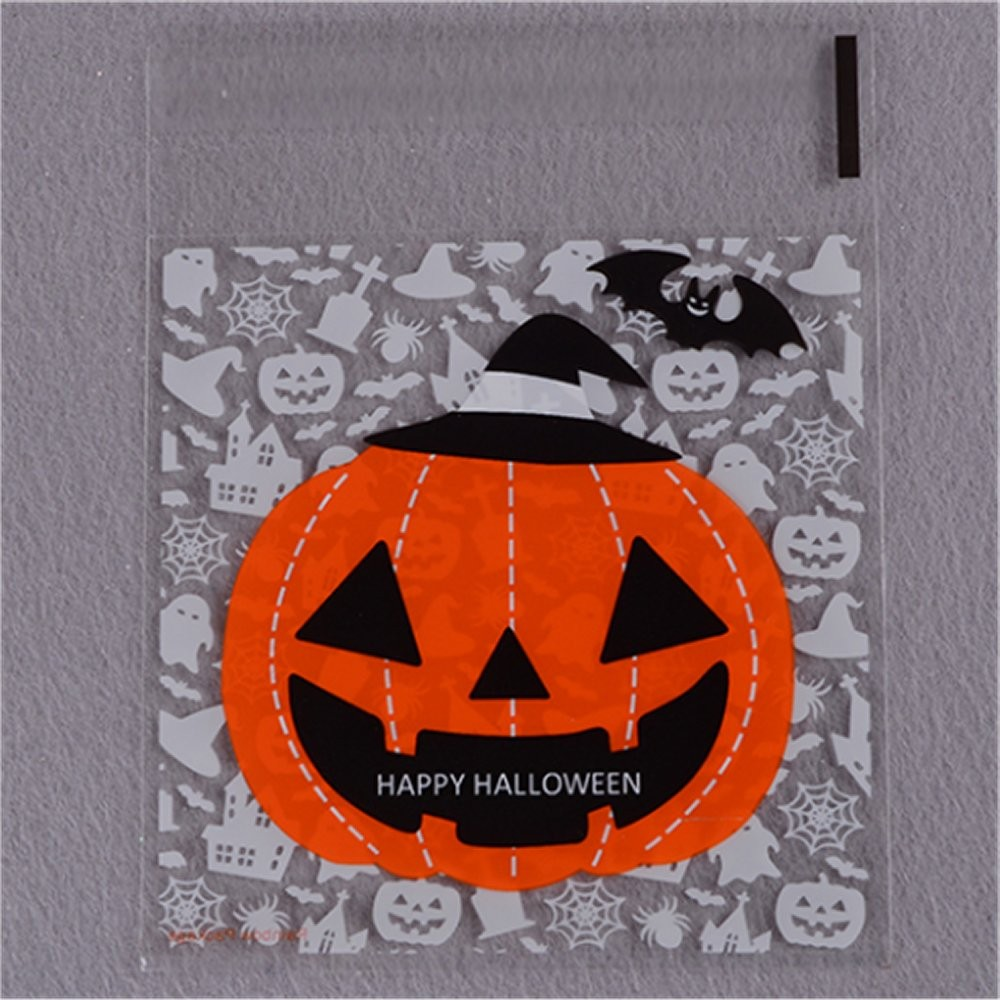 20 Bustine Zucca Halloween Con Adesivo - Buby Party Store 5d8f720baf67