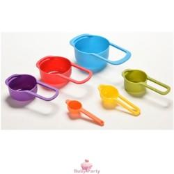 Set 6 Misurini In Plastica Per Liquidi E Polvere