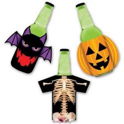 Maglie Vestibottiglia Tema Halloween Zucca Scheletro Pipistrello