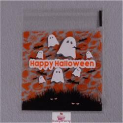 20 Bustine Fantasmi Halloween Con Adesivo