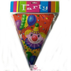 Bandierine In Pvc Party Clown 3,60 mt