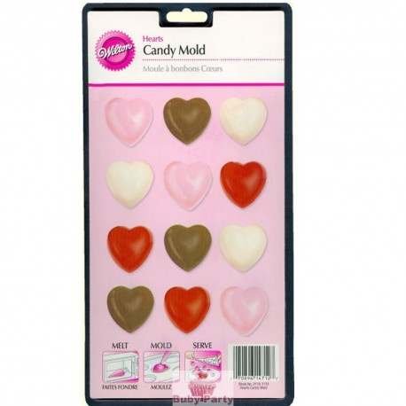 Stampo Cioccolatini Mini Cuori Wilton