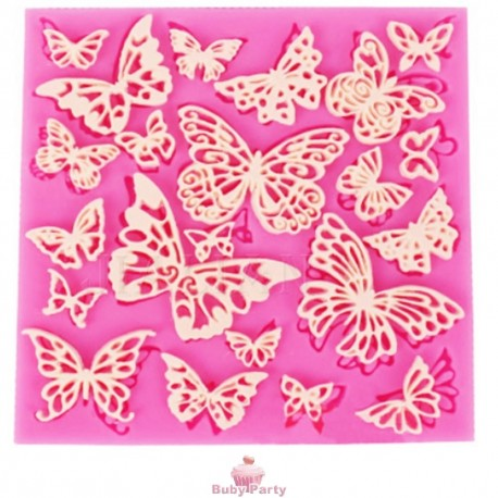 Stampo In Silicone Farfalle In Pizzo Sweet Lace