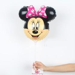 Palloncino Mini Shape Testa Minnie Gonfiaggio Aria
