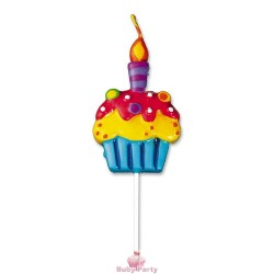 Candelina Forma Cupcake Big Party