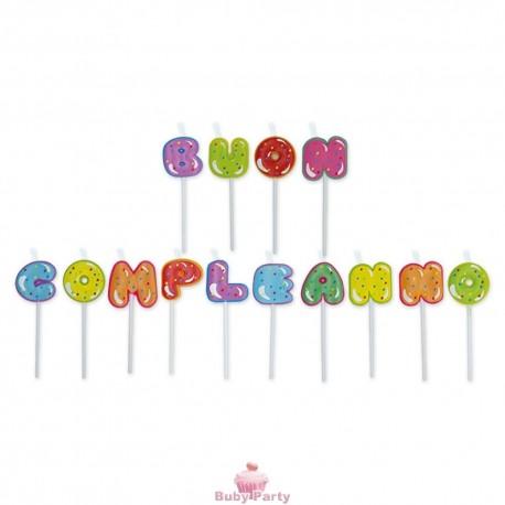 Set 14 Candeline Picks Maxi 8 cm Cupcake Big Party