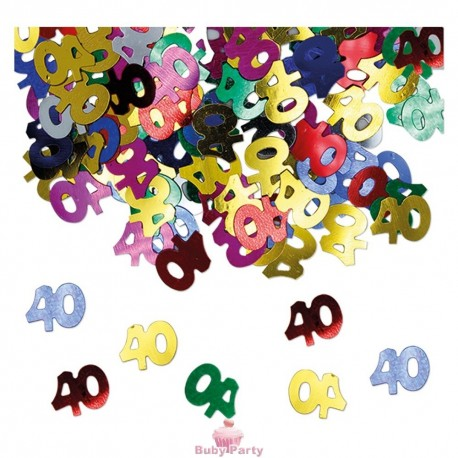 Coriandoli Decorativi Da Tavolo Numero 40 Multicolor Big Party