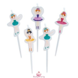 5 Candeline Picks Ballerine I Love Ballet Big Party