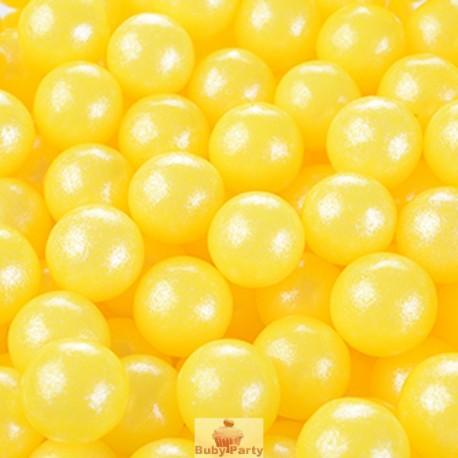 Perle Di Zucchero Perlescenti Gialle Ø 0,9 cm 100g Modecor