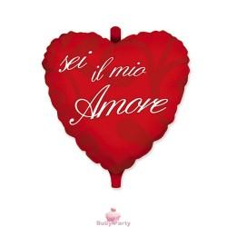 Palloncino A Cuore In Mylar Sei Il Mio Amore Ø 45 cm Big Party