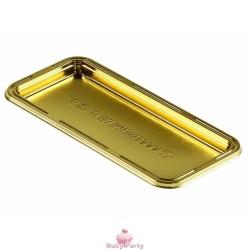 10 Monoporzioni Fetta Trancio Oro Marrone 13X6 Cm