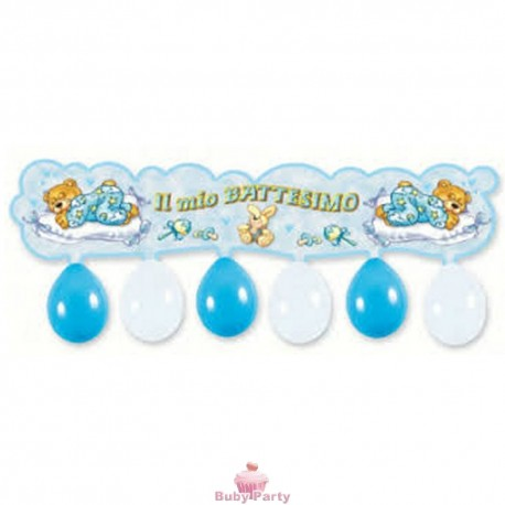 Festone kit Il Mio Battesimo Celeste 110 cm Magic Party
