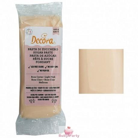 Pasta Di Zucchero Rosa Carne 100g Decora