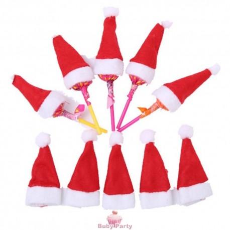 10 Mini Cappellini Babbo Natale Per Lecca Lecca