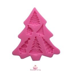 Stampo In Silicone Albero Di Natale 6 Impronte
