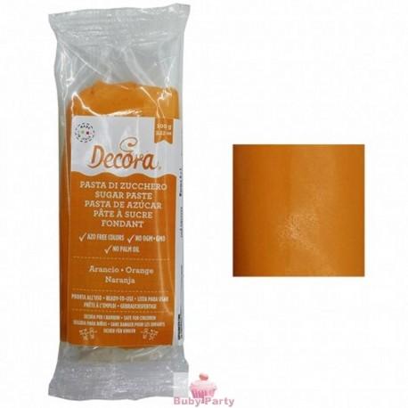 Pasta Di Zucchero Arancio 100g Decora
