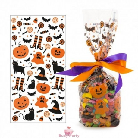 20 Sacchetti Portadolcetti Decorati Halloween Decora