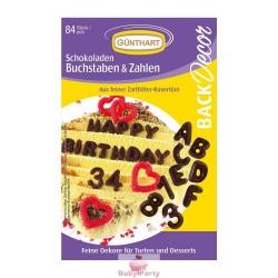 Kit 84 Lettere E Numeri Di Cioccolato Günthart