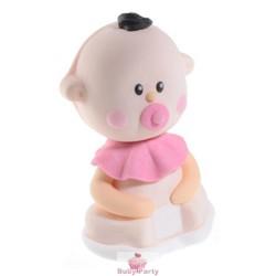 Kit Bebè Rosa Con Ciuccio In Zucchero Per Nascita E Battesimo Modecor