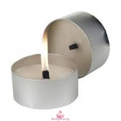 50 Candeline Tealight Bianche Durata 4 h