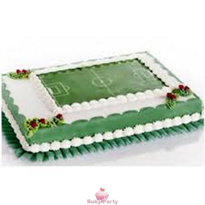 ee9114059 Campo Da Calcio In Cialda Per Torte Di Compleanno Modecor - Buby ...
