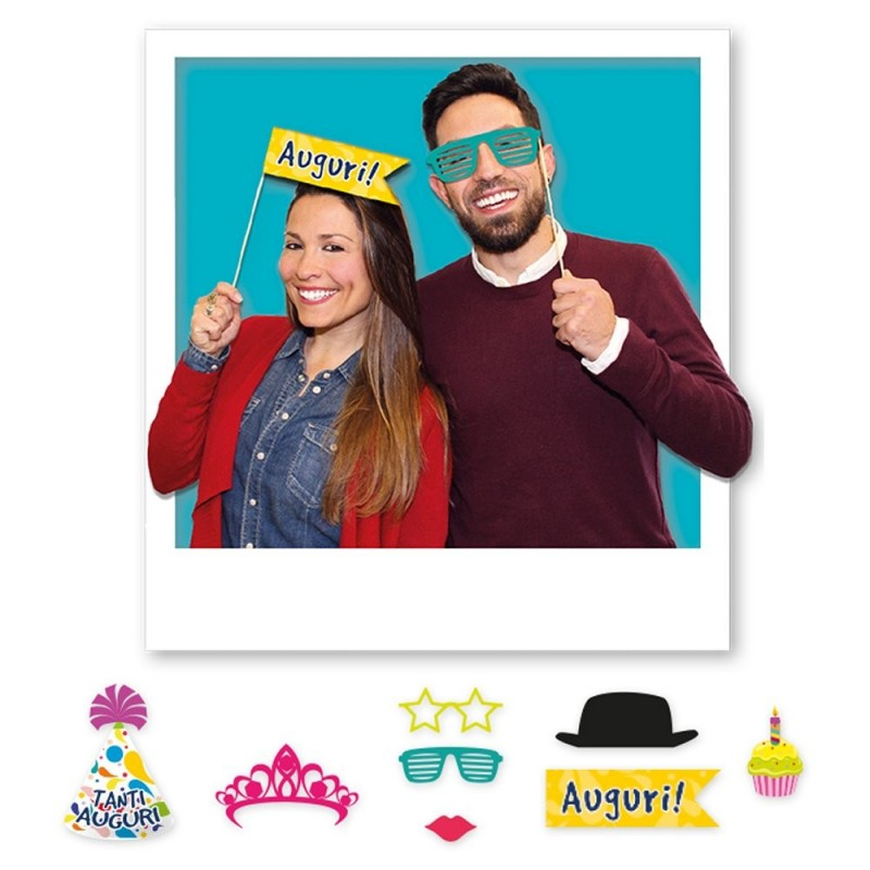 8 Photo Booth Party Compleanno 20 cm