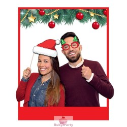 8 Photo Booth Buon Natale 20 cm