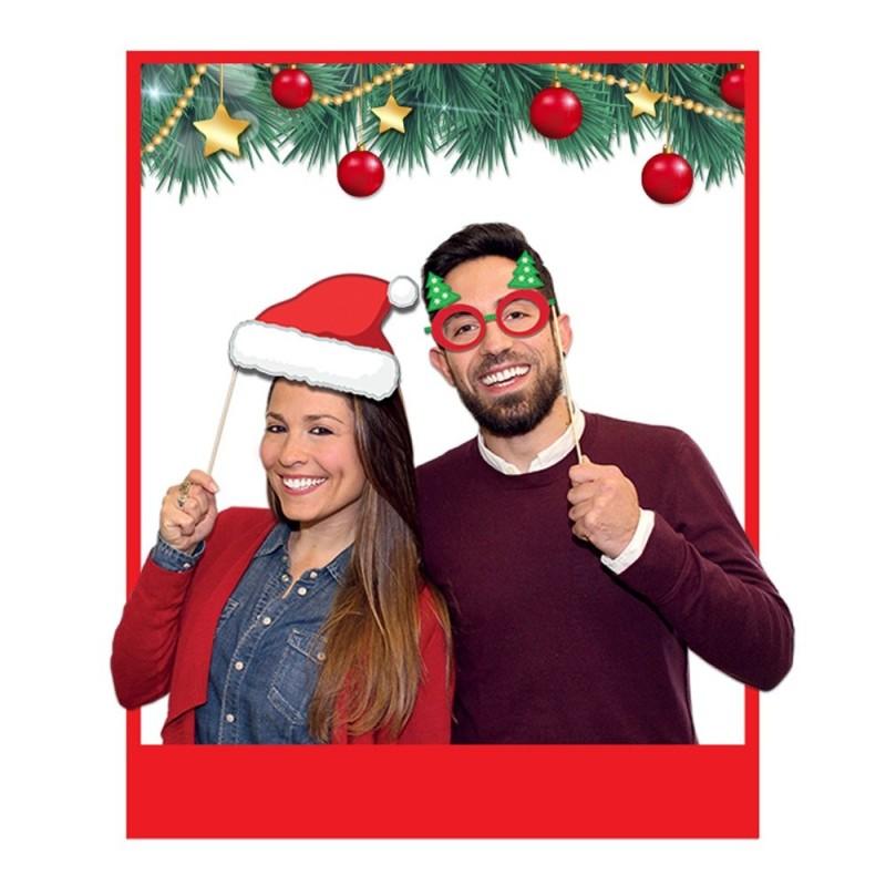 8 Photo Booth Buon Natale 20 cm