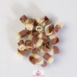 Riccioli Cioccolato Latte E Bianco 100g
