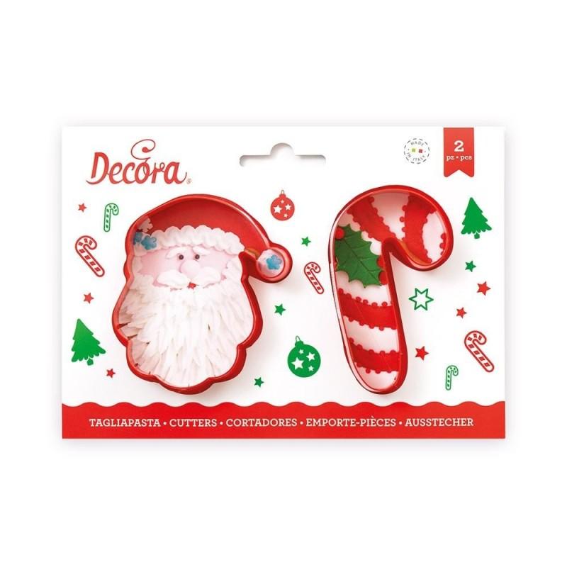 Set 2 Tagliapasta Babbo Natale E Candy Cane