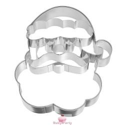 Tagliapasta In Acciaio Viso Babbo Natale 10,5 Cm
