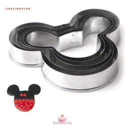 Set 5 Tagliapasta In Metallo Topolino Cookie Cutter