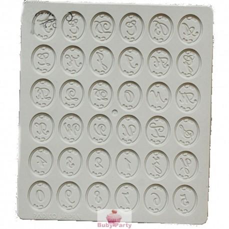 Stampo In Silicone Lettere E Numeri