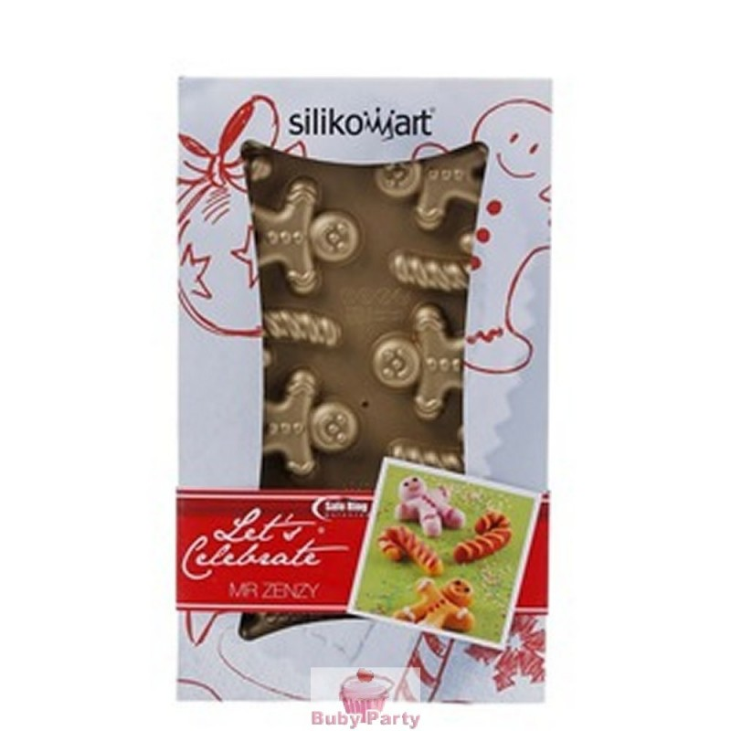 Stampo In Silicone Biscotti Ginger E Candy Canes Silikomart